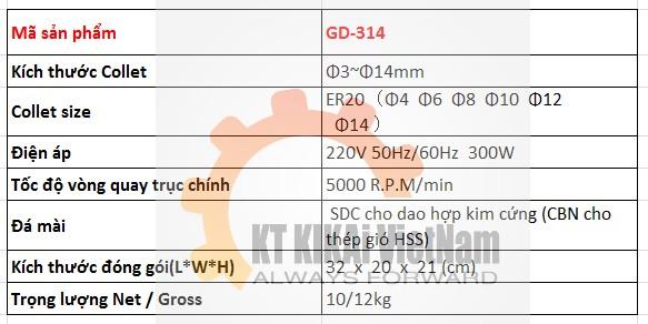 thong so ky thuat may mai dao phay cnc gd-314 hn hcm