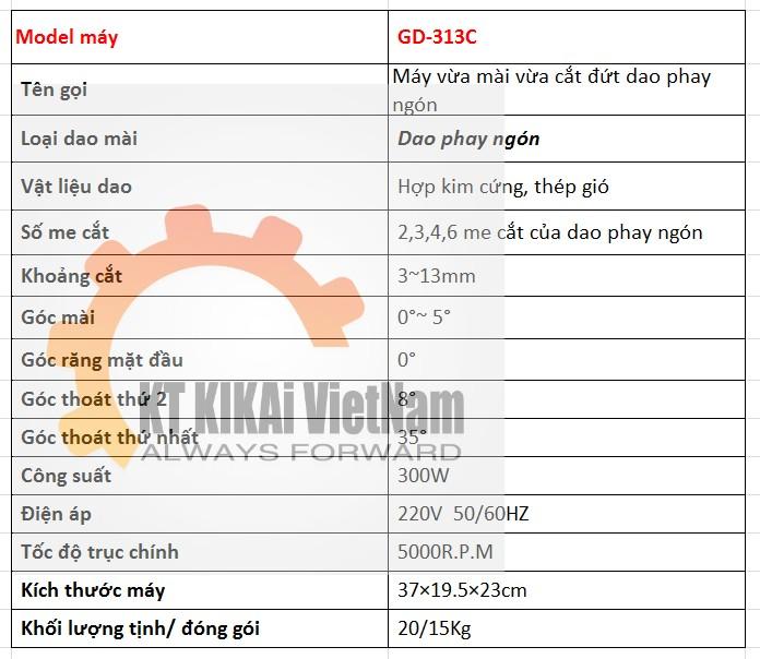 thong so ky thuat may mai dao phay cnc gd-313C hn hcm