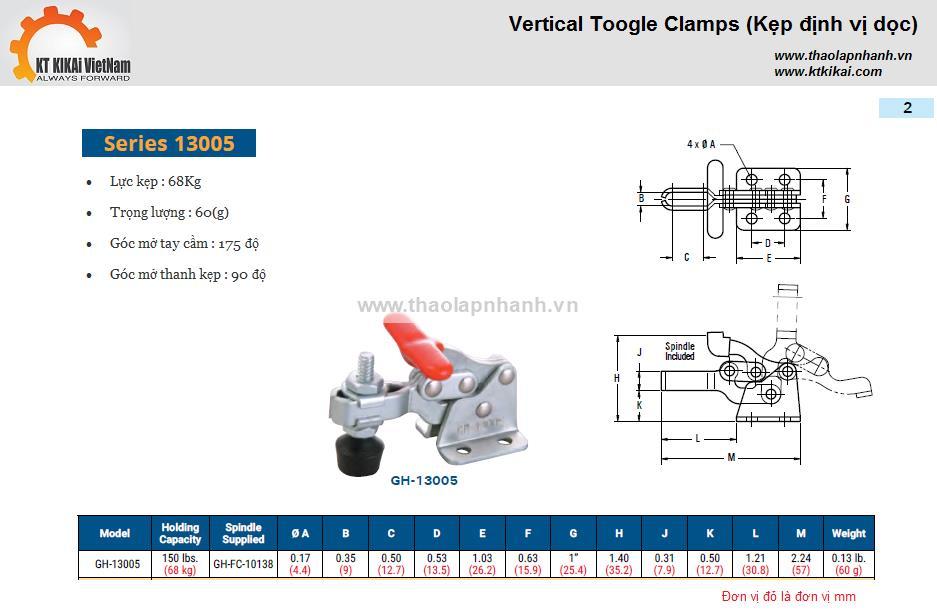 Kẹp định vị Gh 13005 catalog