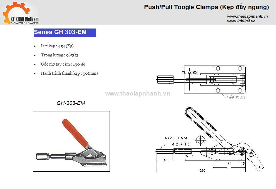 Kẹp đẩy ngang GH 303EM - (454Kg)